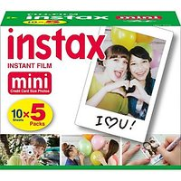 Fujifilm Instax Mini Instant Film, 10 Sheets (5-Pack) (50 Photos)