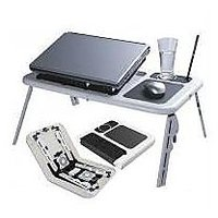 Portable Laptop Stand E Table With 2 USB Fans