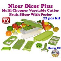 Gadget Hero's Nicer Dicer Plus Vegetable & Fruit Cutter Slicer Grater