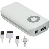 ERD LP-203 Portable Mobile Charger 5200 MAh - Power Bank (White)