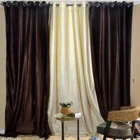 Dream Dekor Set Of 3 Plain Eyelet Door Curtain - 30 Option