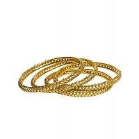 Joyas Golden Bangle Set For Women_12918_2.4