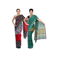 Latest Design Studio Shubham Printed Georgette Saree combo