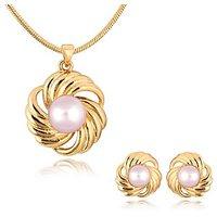 Alamod Fashion Glint Pearl Pendant Set ALPS 5006