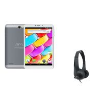 Ambrane AQ-880 8 Inch 3G Calling Tablet With Free Ambrane Headphones HP-20(Black