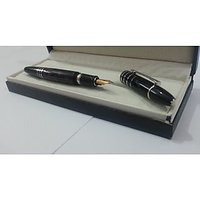 Vintage Montblanc Masterpiece 144 Black Striated Fountain Pen With Montblanc Box