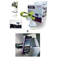 Combo - Universal Car Windshield Mount Holder Mobile Holder Stand Mobile Phone