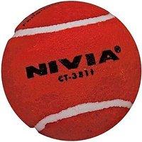 Original Nivia Cricket Tennis Ball (PACK Of 6 - Red - 72630648