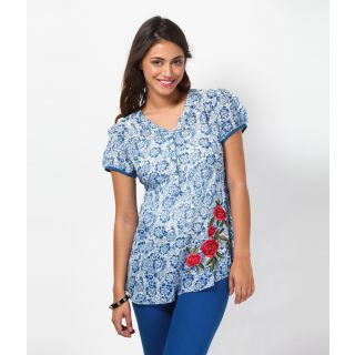 LOVE FROM INDIA  FLORAL PRINTED TUNIC _buy One Tunic Get One Scraf Free - 5173132