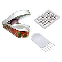 Ganesh Vegetable & Fruit Chopper Cutter With Free Chop Blade & Cleaning Tool.