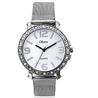 Oleva Ladies Watch with Stainless Steel Dial OSW-4 WHITE