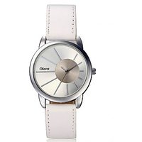 Oleva Ladies Leather Watch with Genuine Leather Strap OLW 13 W