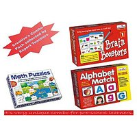 Creative Combo Of Alphabet Match, Brain Booster-1 And Math Puzzle Addition