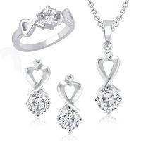 VK Jewels Demure (Shy And Reserve) Solitaire Combo Ring & Pendant Set -VKCOMBO1008R