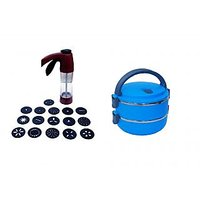 Kitchen Press For Snack Maker RUST FREE TOOL And Lunch Box 1400 Ml FREE
