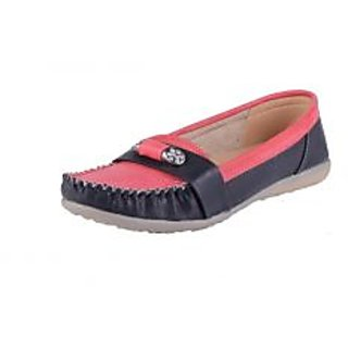 Shoe-Stopper Black & Red Attractive Stoned Loafers