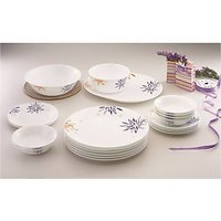 Corelle 21 Piece Dinner Set 21-Carnival (Glass, White) - 72716332