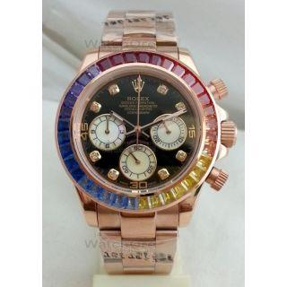 Rolex Daytona Rainbow Jewels Mens Swiss Watch