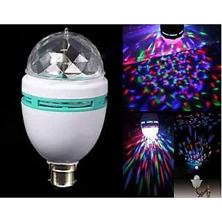 Led Bulb Party Light Disco Effect Full Color Rotating Lamp