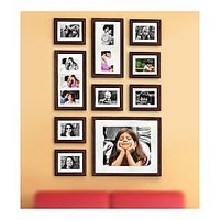 BR Photo Wall Gallery In Brown - Set Of 12 Pcs (3ft X 6ft Wall)