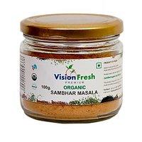 Vision Fresh Organic Sambhar Masala 100 Gms