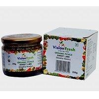 Vision Fresh Organic Lemon Sweet Pickle 250 Gms
