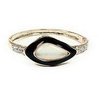 Ladies Black White Stone Bracelet-Stone Studded End Bracelet-By Astin Karma