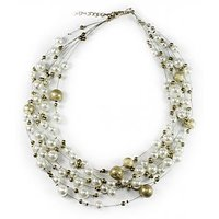 Multi Strend Pearl Necklace-Seven Layers Pearl Necklace-By Astin Karma