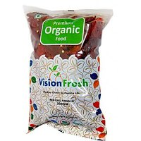 Vision Fresh Organic Red Chilly Whole 200 Gms