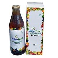 Vision Fresh Organic Lemon Squash 1 Ltr