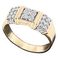 18 Kt Yellow Gold A Vivid Diamond Ring