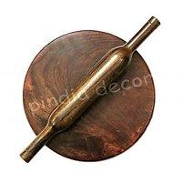 Fancy High Quality Hand Made Wooden Chakla Belan Rooling Pin Kitchen Utensils