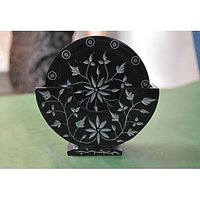 Artist Haat Handcrafted Captivating Stone Floral Hand Carving On The Coasters Se