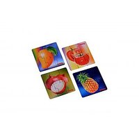 Oddy Fruits & Veg. Puzzle Set Of 4 Cards