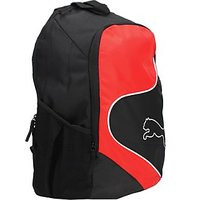 Puma New Power Cat Backpack (Black And Red)