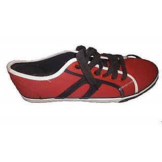 Men's Casual Shoes Red And Black