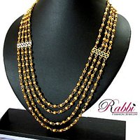 One Gram Gold Plated 4 Line Balls Chain / Long Necklace/Mohan Maala