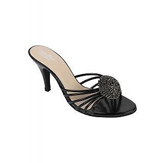 Charu Diva Women Black Color Designer Heels