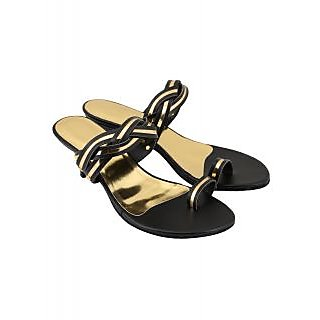 Charu Diva Women Black Designer Heels