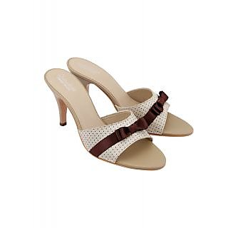 Charu Diva Women Beige-Brown Color Designer Heels