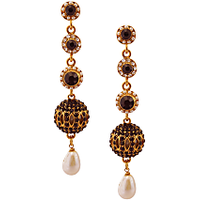 Rich Lady Designer Black Earring