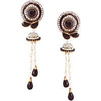 Rich Lady Best Black Earring