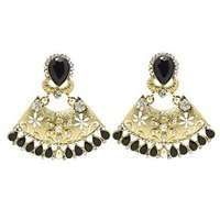 Rich Lady Awesome Black Earring