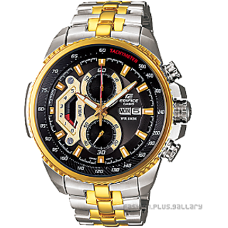 CASIO EDIFICE EF-558D-2AV GOLDEN STEEL DIAL SPORTS CHRONOGRAPH WATCH
