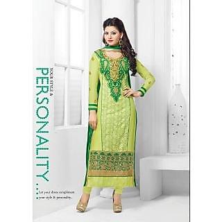 Urvashi Rautela Multi color georgette semi stitched anarkali salwar suit