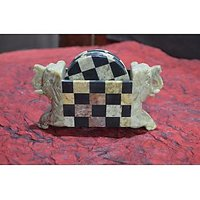 Artist Haat Hand Crafted Soapstone Elephant Shaped Coasters Set.