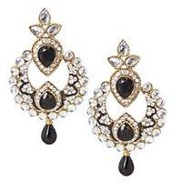 Rich Lady Classy Black Earring