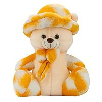 Glitters Valentines Double Shaded Yellow Teddy(20 Inch)