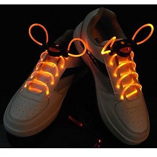 Fiber Optic LED Shoe Laces, Neon Yellow Led Strong Light Gadget, Disco Led Light