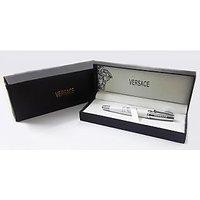 Versace Cosmos White & Silver BallPoint Pen With Versace Box